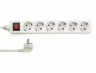 REV Socket line    6-fold 1,4 m with switch   white