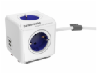 allocacoc PowerCube Extended USB incl. 1,5 m Cable blue Type F