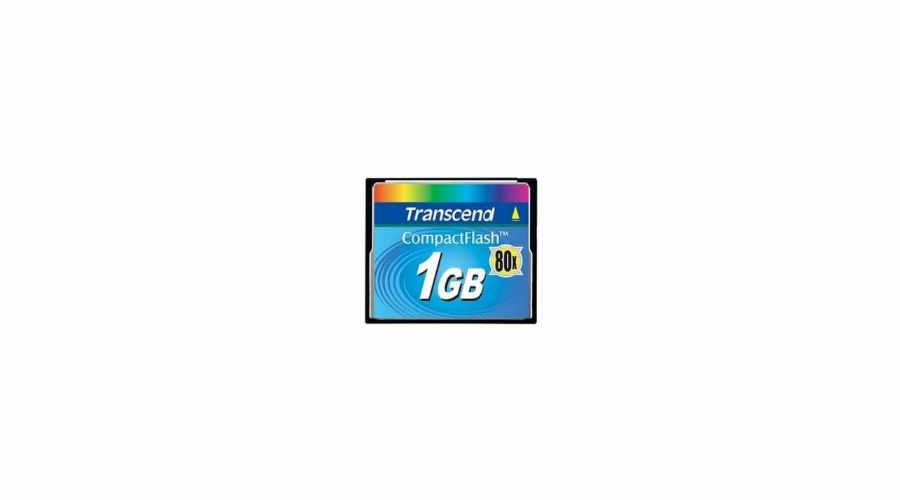 Transcend 1GB CF Card (80X) compact flash memory card