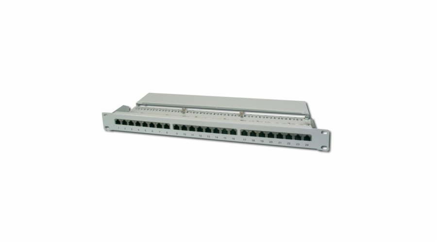 "Digitus Patch Panel 19"", CAT6, 8P8C, LSA, 1U, 24 x RJ45, stíněný, šedý"