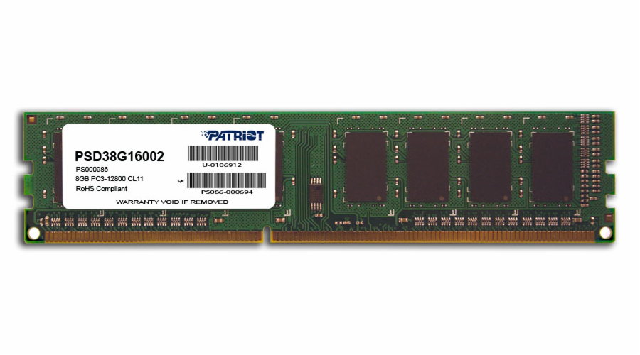 8GB DDR3 1600MHz Patriot CL11