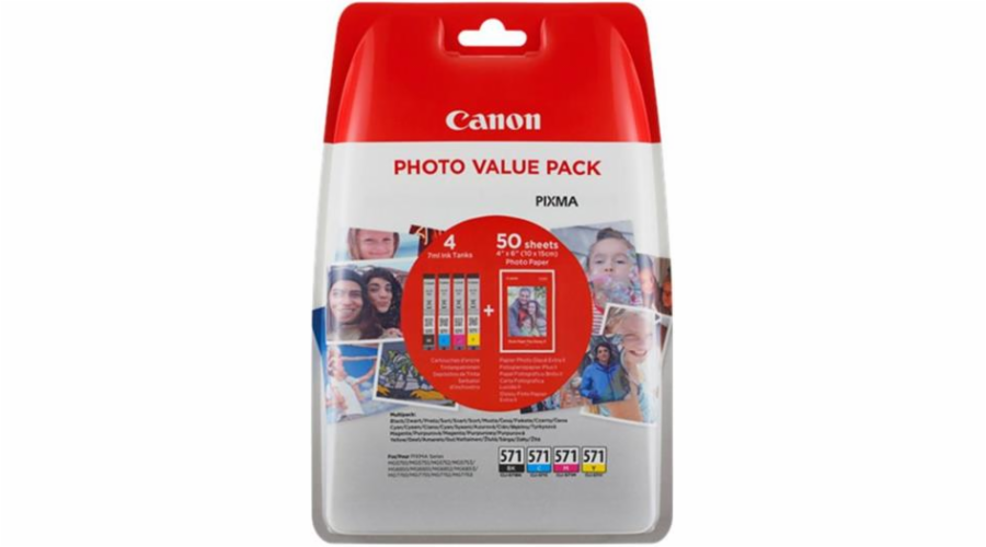 Canon cartridge XL CLI-571 C/M/Y/BK PHOTO VALUE pack