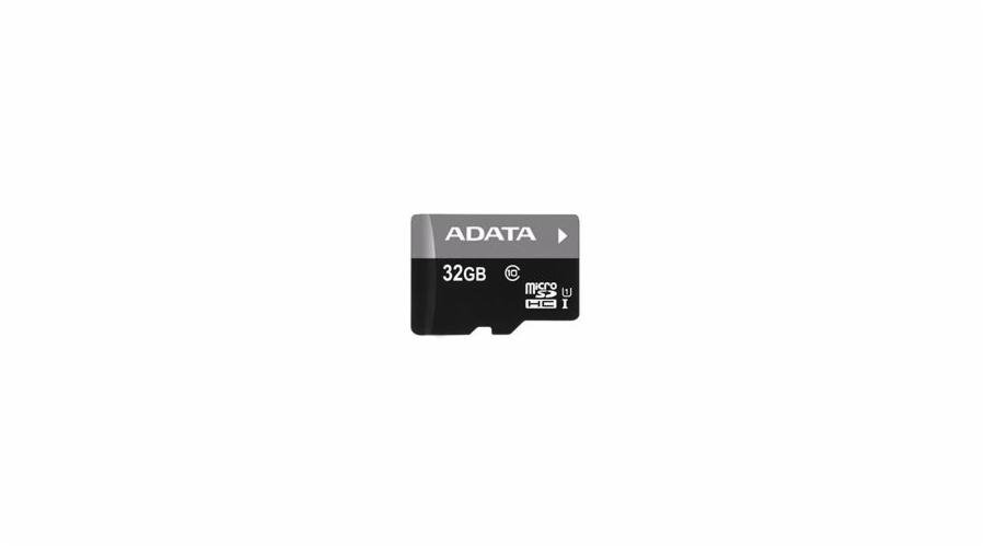 ADATA paměťová karta 32GB Premier micro SDHC UHS-I CL10 (čtení/zápis: 50/10MB/s) + micro čtečka