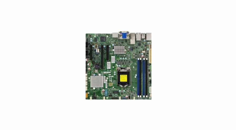SUPERMICRO MB 1xLGA1151 (i7 do 1U), iC236,DDR4,4xSATA3,PCIe 3.0 (1 x16, 2 x4),HDMI,DP,DVI,Audio,12v DC, IPMI