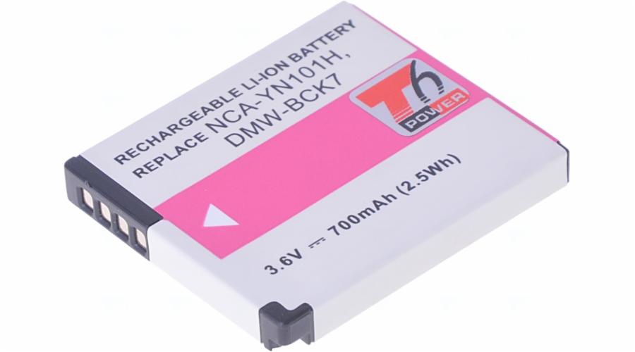 Baterie T6 power Panasonic DMW-BCK7, 700mAh, černá
