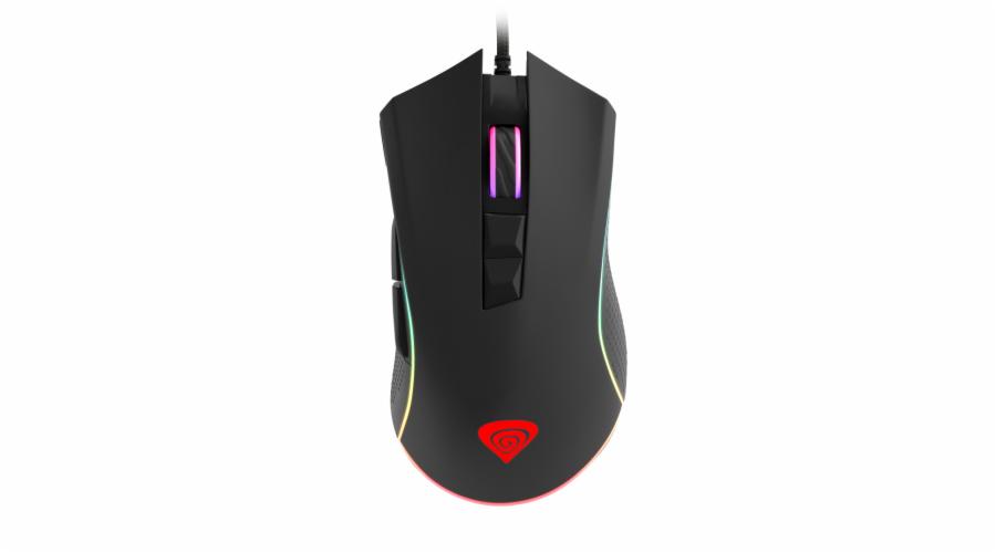 Profesionální herní optická myš Genesis Krypton 770, RGB, software, 12 000 DPI, PMW3360, dárek v bal