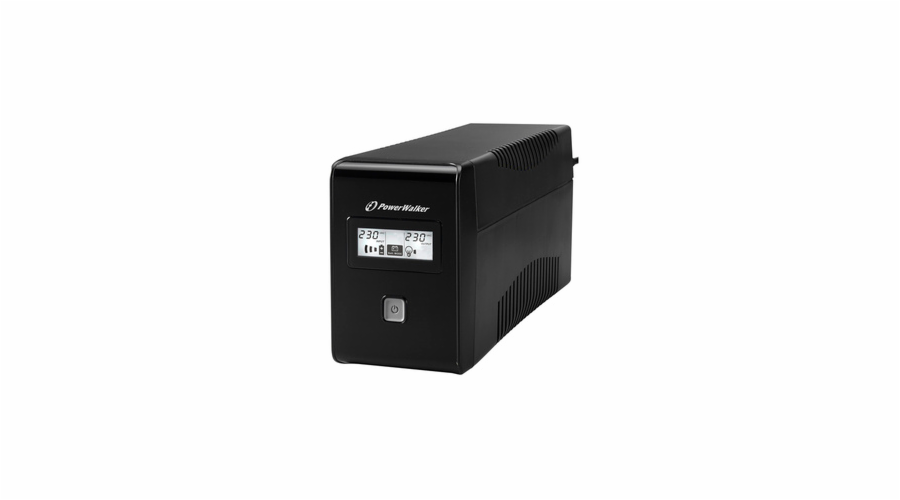 Power Walker UPS Line-Interactive 650VA 2x 230V EU, RJ11, USB, LCD