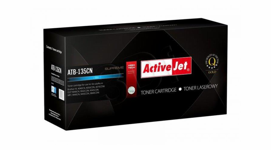 Toner ActiveJet ATB-135CN | Cyan | Brother TN-135C