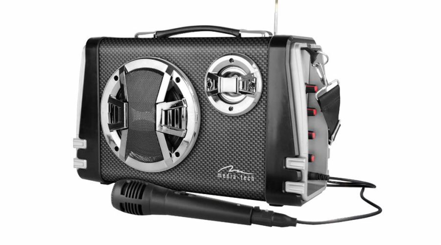 Portable Bluetooth speaker system MediaTech Karaoke Boombox BT with mic.