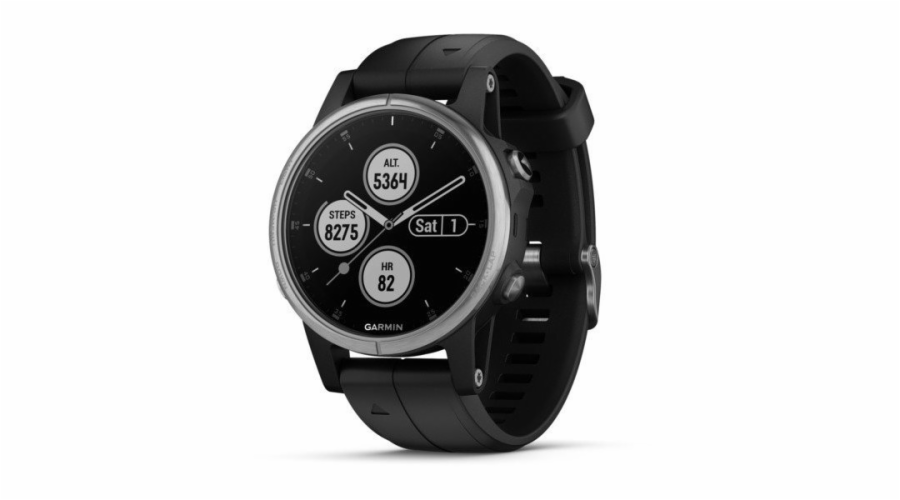 Garmin fenix 5S Plus Glass Silver/Black