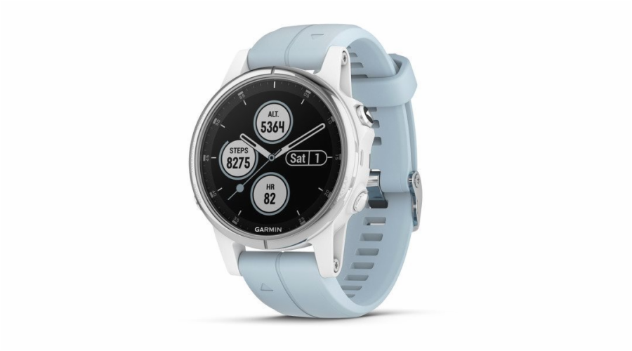 Garmin fenix 5S Plus Glass White/Seafoam