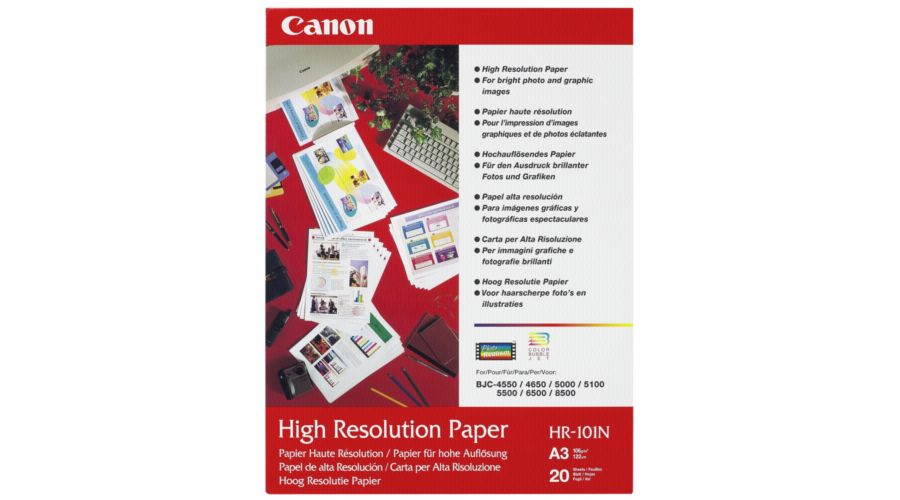 Canon HR 101 N A 3, 20 listu Fotopapir 106 g