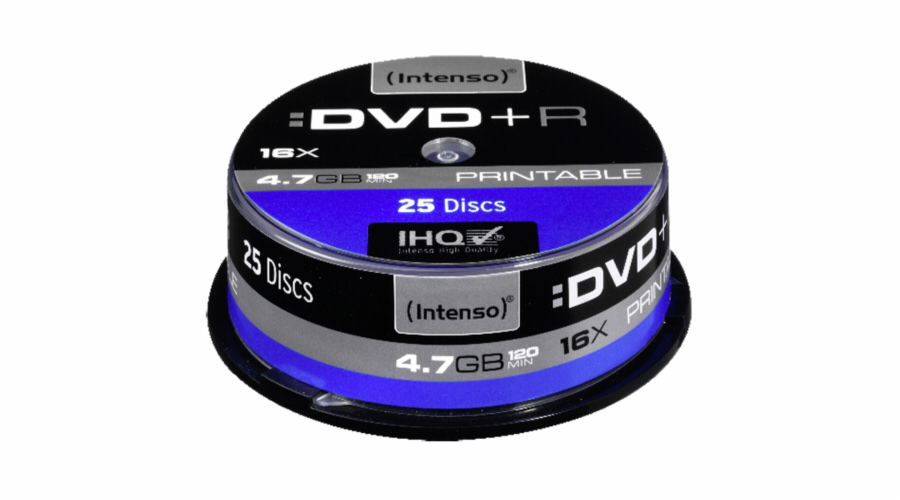 1x25 Intenso DVD+R 4,7GB 16x Speed Cakebox printable