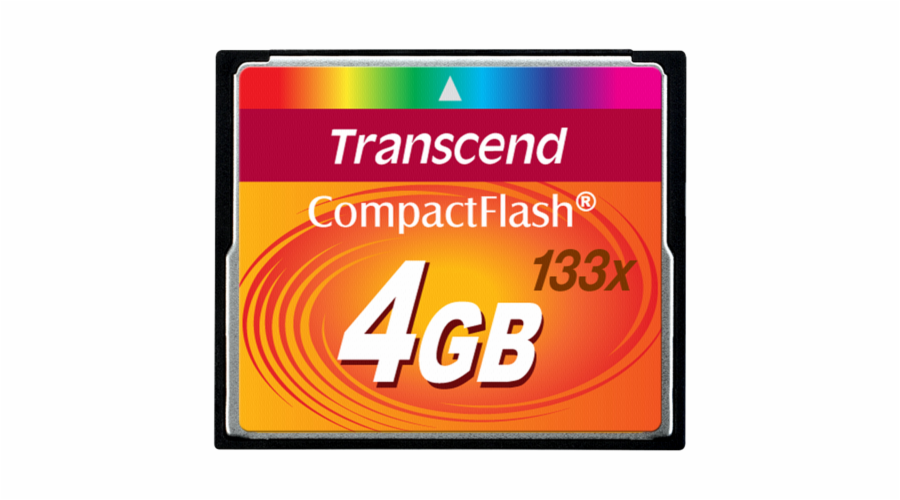 Paměťová karta TRANSCEND 4GB CF Card (133X) compact flash memory card