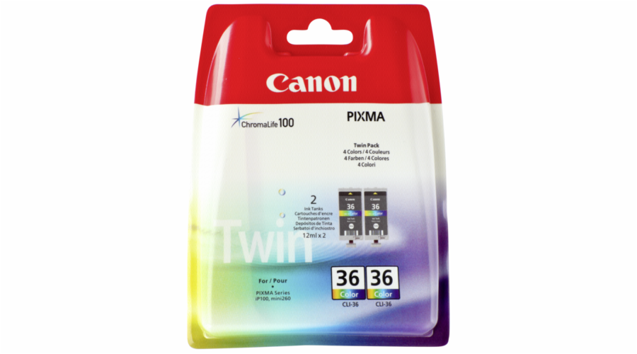 Canon CLI-36 Color Twin Pack