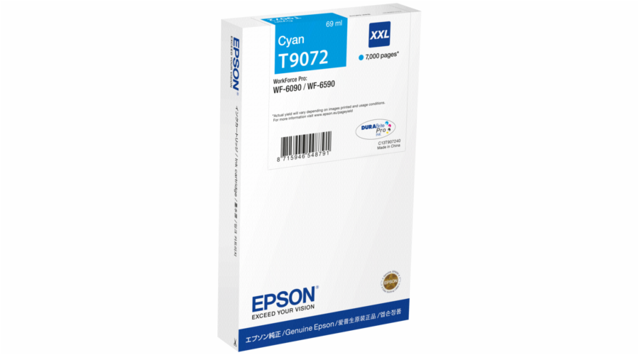 Epson ink cartridge XXL cyan T 907 WorkForce Pro T 9072