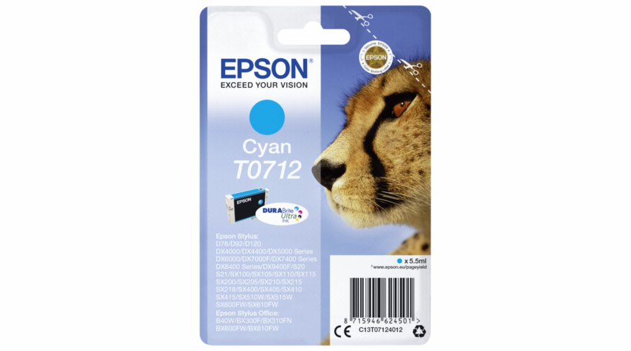 Epson ink cartridge cyan DURABrite T 071 T 0712