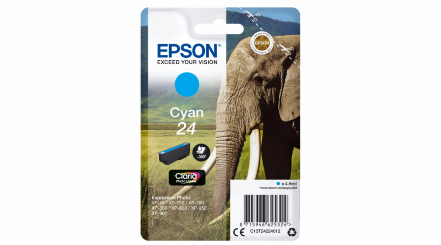 Epson ink cartridge cyan Claria Photo HD T 242 T 2422