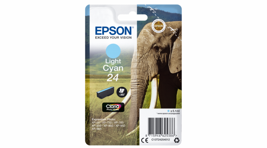 Epson ink cartridge light cyan Claria Photo HD T 242 T 2425