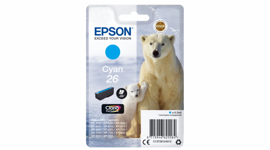 Epson ink cartridge cyan Claria Premium T 261 T 2612