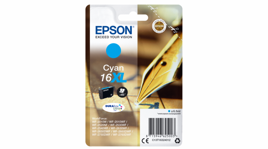Epson ink cartridge XL cyan DURABrite Ultra T 163 T 1632