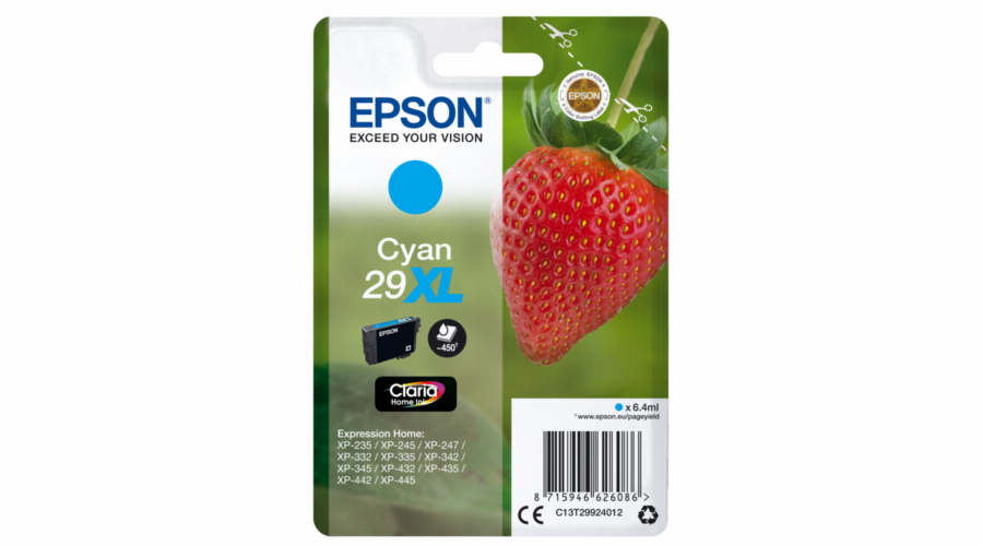 Epson ink cartridge XL cyan Claria Home 29 T 2992