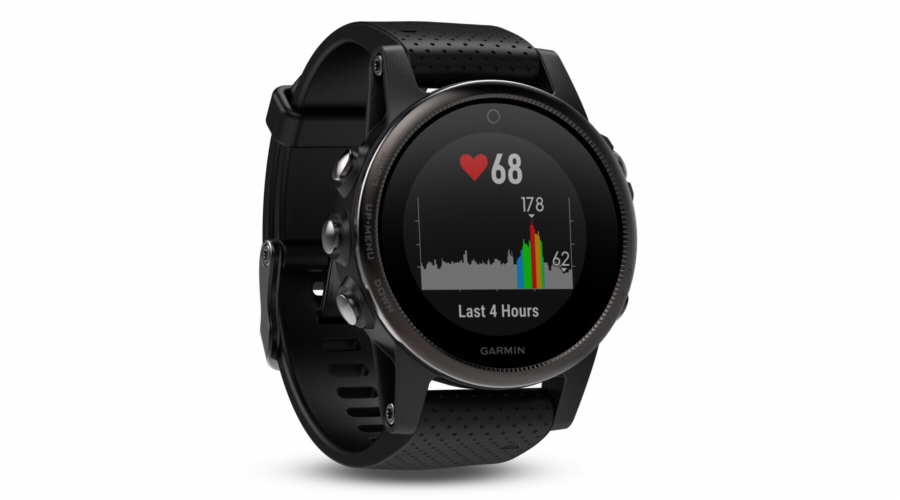 Garmin fenix 5S saphir black with black Armband 42mm