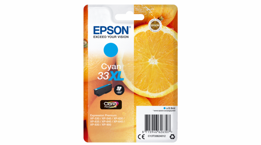 Epson ink cartridge cyan Claria Premium 33 XL T 3362