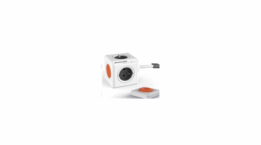 Allocacoc PowerCube Extended Remote Set, white/grey (1,5m)