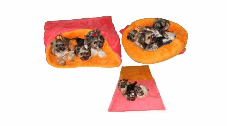 Marysa pelíšek 3v1 MAX, růžový/oranžový