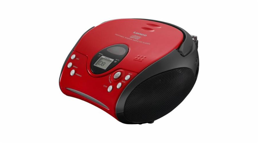 Rádio Lenco SCD-24 červené-černé