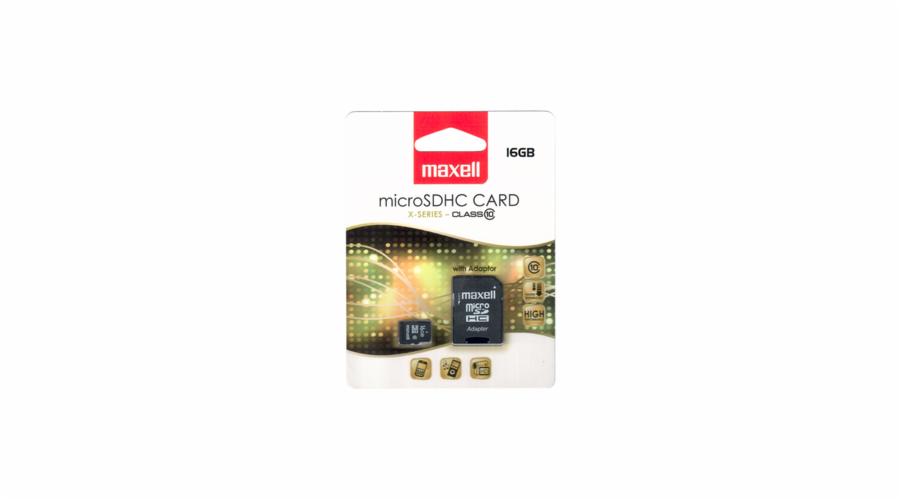 MicroSDHC 16GB CL10 + adpt 854717 MAXELL