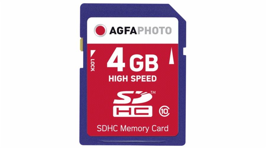 AgfaPhoto SDHC karta 4GB High Speed Class 10 UHS I