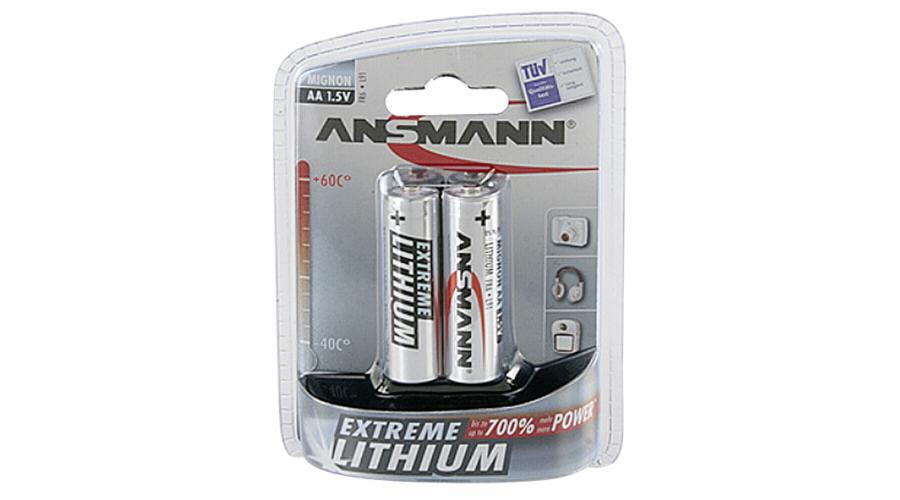 1x2 Ansmann Lithium Mignon AA extreme
