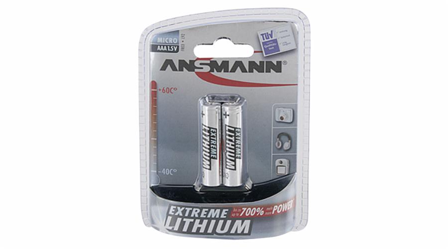 1x2 Ansmann Lithium Micro AAA extreme