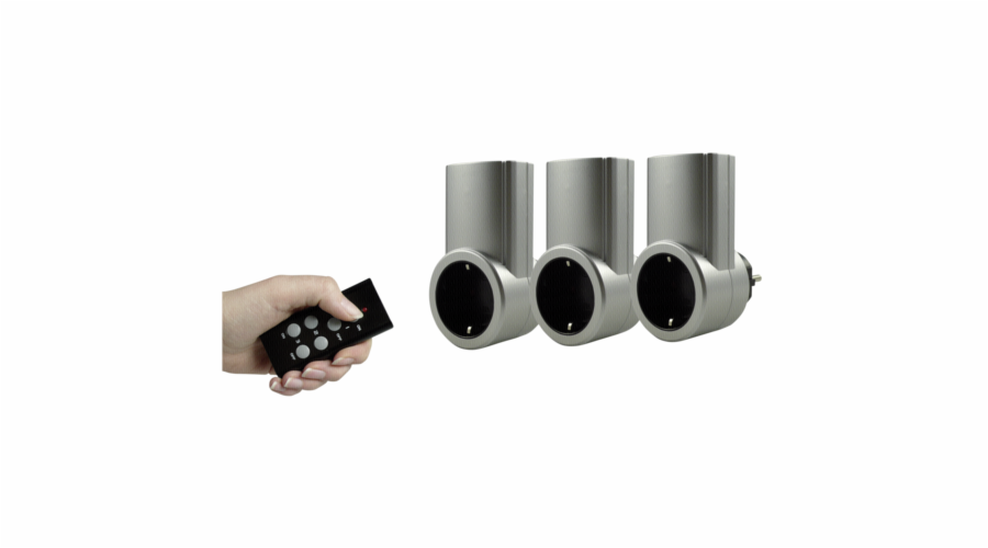 REV Radio Socket Set silver 3+1 2300W 0085010703