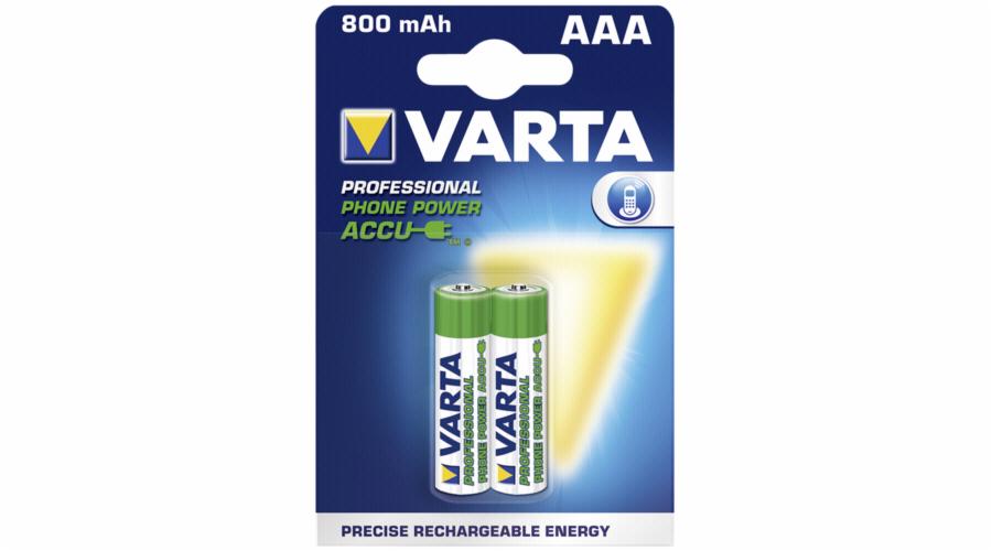 50x2 Varta Professional AAA rech bat. Micro NiMh 800mAh PU master