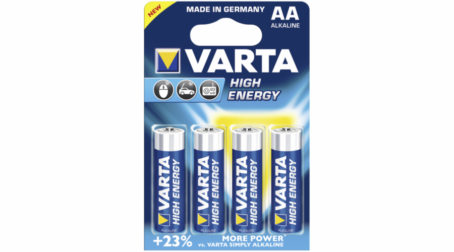20x4 Varta High Energy Mignon AA LR 6 PU inner box
