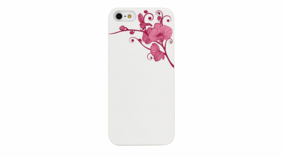 BlingMyThing Orchid iPhone 5 5S SE white