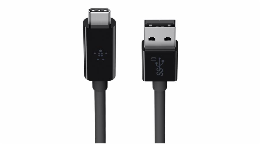 Belkin USB 3.1 SuperSpeed Kabel USB-C na USB-A 1m cerna