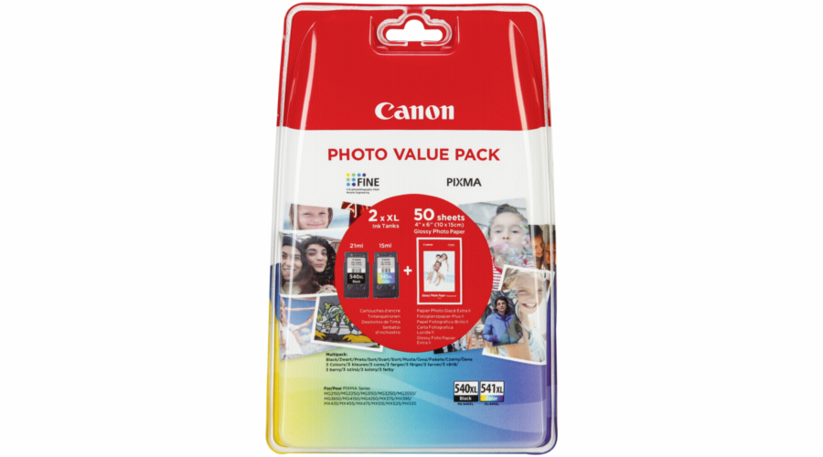 Foto papír Canon PG-540 XL / CL-541 XL Photo Value Pack GP-501 50 Bl.