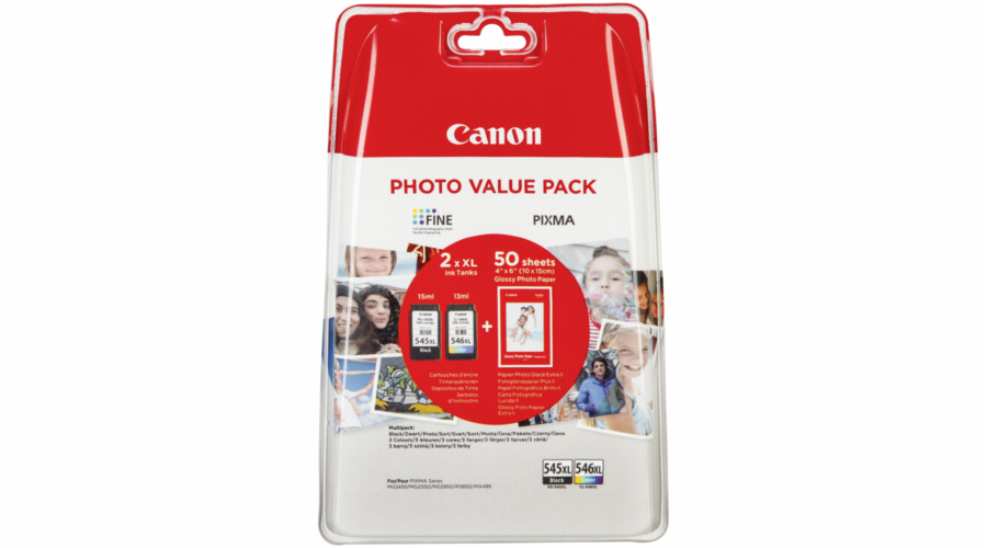 Canon PG-545 XL / CL-546 XL Photo Value Pack GP-501 50 Sh.