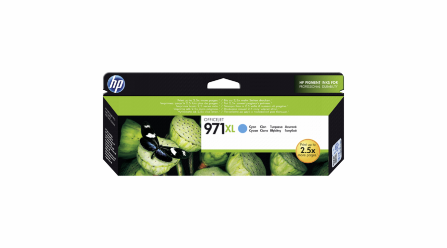 HP CN 626 AE cartridge modra No. 971 XL