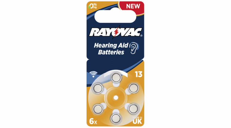Baterie Rayovac Acoustic Special 13 6ks Hearing Aid Batteries