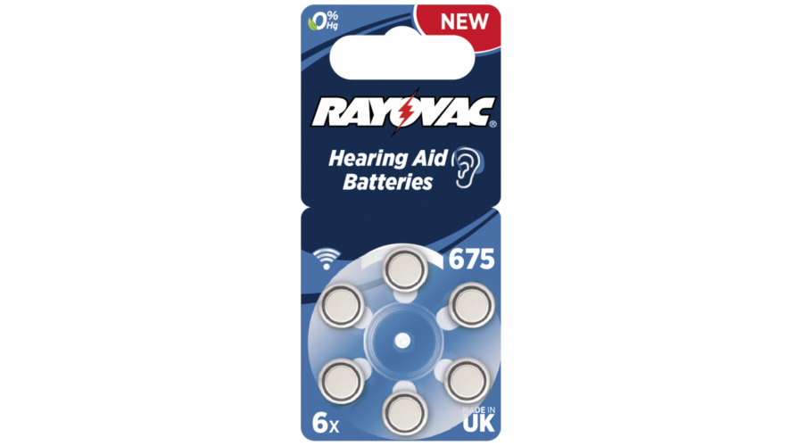 Baterie Rayovac Acoustic Special 675 6ks Hearing Aid Batteries