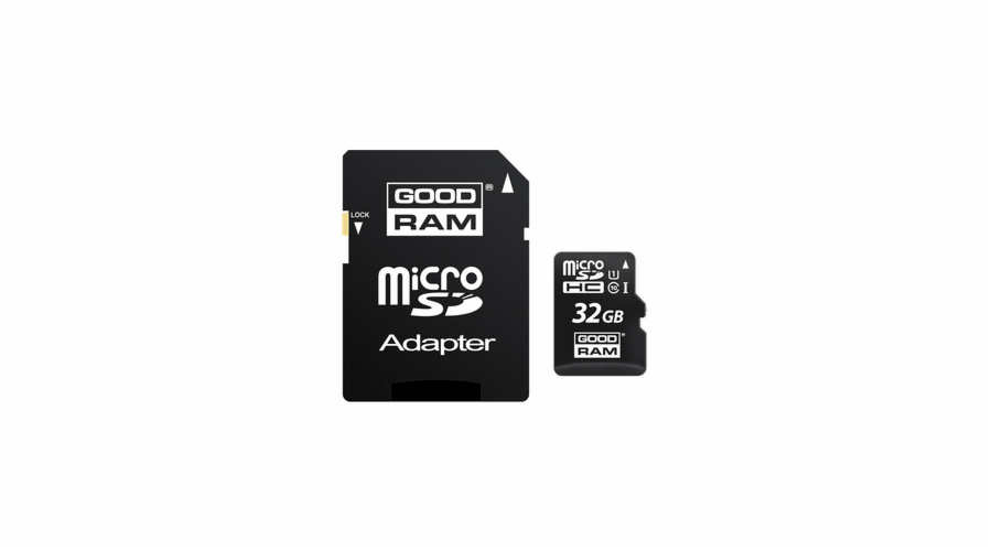 MicroSDHC 32GB CL10 UHS1 + adap. GOODRAM
