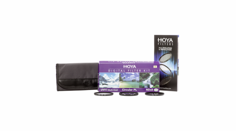 Hoya Digital Filter Kit II 55 mm Pol-Circ. / NDX8 / HMC UV (C)