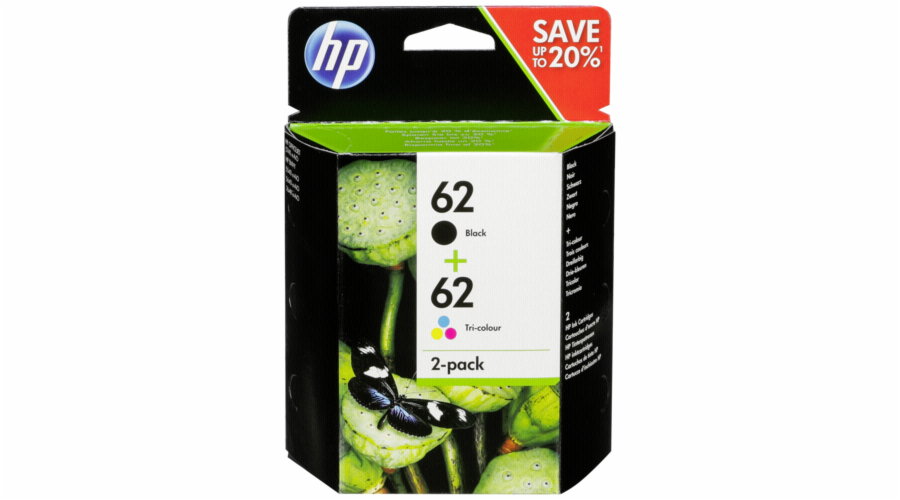 HP N9J71AE Combo 2-Pack BK/Color No. 62