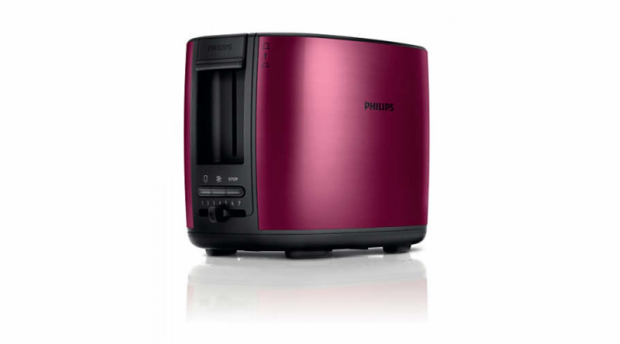 Topinkovač Philips HD2628/09 červená - kov