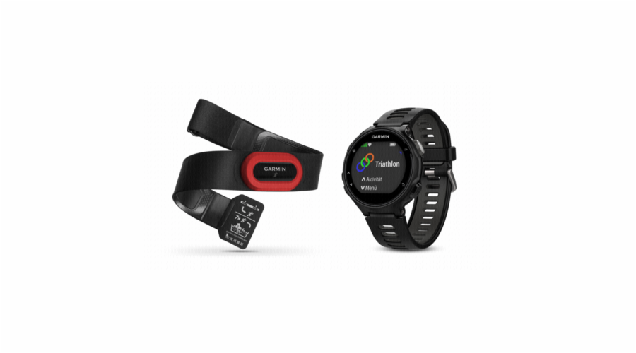 Garmin Forerunner 735XT Run Bundle cerna/seda